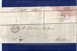 ##(ANT2)- 1866 - Piego In Franchigia  Completo Di Testo Da Occhiobello  Per Rovigo - Storia Postale