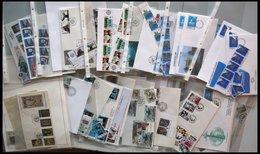 SAMMLUNGEN, LOTS Brief,o , 1964-90, Partie Diverser Ausgaben, Dabei Viele Werte Mit C-Zähnungen Und Diverse FDC`s, Prach - Verzamelingen