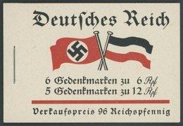 ZUSAMMENDRUCKE MH 32.4.1 **, 1933, Markenheftchen Fridericus Mit Heftchenblatt 74B 1.2.!, Pracht - Zusammendrucke