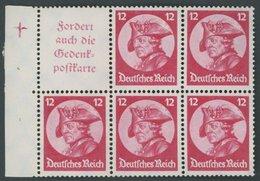 ZUSAMMENDRUCKE H-Bl. 75B 1.2 **, 1933, Heftchenblatt Fridericus, Passerkreuz 2 Feld 1, Pracht, Mi. 320.- - Se-Tenant