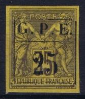 Guadeloupe: Yv 2 MH/* Flz/ Charniere  1884 - Guadeloupe (1884-1947)