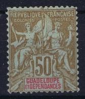 Guadeloupe: Yv 44  MH/* Flz/ Charniere - Ungebraucht