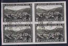 Luxembourg : Mi Nr 282 As Four Block Obl./Gestempelt/used   1935 - Luxembourg