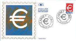 LETTRE GRAND FORMAT (1ER JOUR) - FDC - CARNET EURO AUTO-ADHESIF - 6 FEVRIER 1999 A PARIS - CÔTE : 5 EUROS - FDC