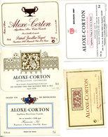 5 Etiquettes Bourgogne : Aloxe Corton - Bourgogne