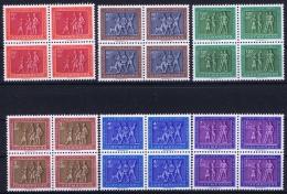 Luxembourg : Mi Nr 517 - 522  In 4 BlocksPostfrisch/neuf Sans Charniere /MNH/** 1953 - Unused Stamps