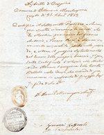 ##(ANT2)- 1833 VILLANOVA MARCHESANA (ROVIGO)-  Certificato Con Timbro Deputazione Comunale - Italia