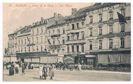 Très Belle CPA : NAMUR  Place De La Gare , Les Hôtels (côté Grand Hôtel De Flandre) - Namur