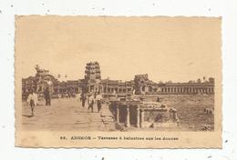 Cp , Cambodge , ANGKOR ,terrasse à Balustres Sur Les Douves , Vierge , Ed. Ancien Ets Gillot - Cambodge