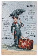 Très Belle CPA à Système : NAMUR  Petites Vues Dans La Valise De CHARLOT (Charlie Chaplin) - A Systèmes