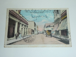 CALLE SAN FERNANDO, CIENFUEGOS, CUBA - SAN FERNANDO STREET - Carte écrite En Esperanto - Etranger CUBA (AC) - Otros