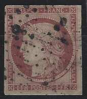 1849 - 1850 Céres N°6 1fr Carmin Bel Exemplaire Frais Mais Second Choix - 1849-1850 Ceres