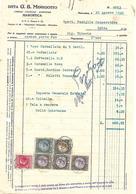 FAT196 - FATTURA 1940- DITTA G.B. MENEGOTTO - MAROSTICA- MARCHE DA BOLLO - Italy