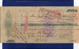 ##(ANT2)- 1909  S.PIERO A PONTI (CAMPI BISENZIO-SIGNA) FIRENZE - Cambiale Ugo Ballerini Pagata In Francia - Italy