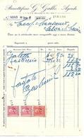 FAT197 - FATTURA 1940- BISCOTTIFICIO G. GALLO - AGORDO - MARCHE DA BOLLO - Italy
