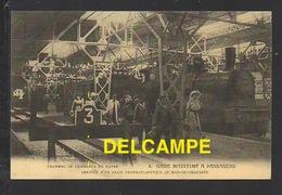 DF / CHEMINS DE FER / GARE MARITIME À PASSAGER DU HAVRE (76) / ARRIVÉE D' UN TRAIN TRANSATLANTIQUE AU REZ-DE-CHAUSSÉE - Stations With Trains