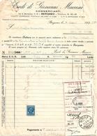 FAT204 - FATTURA 1934 - EREDI DI GIOVANNI MACCONI - BERGAMO - MARCHE DA BOLLO - Italy