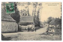 Cpa: 76 CANVILLE LES DEUX EGLISES (ar. Rouen) Route De Doudeville (animée) 1913 (rare) - France