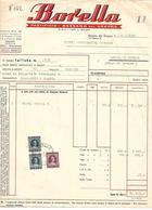 FAT205 - FATTURA 1953 - BORELLA - PASTIFICIO - BASSANO DEL GRAPPA - MARCHE DA BOLLO - Italy