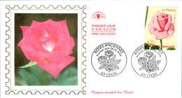 3 LETTRES GRANDS FORMATS (1ER JOUR) - FDC - ROSES ANCIENNES - 28 MAI 1999 A LYON - CÔTE : 10 EUROS - FDC