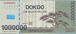 Specimen Île DOKDO Corée 1 000 000 Dollars 2013 UNC - Fictifs & Spécimens