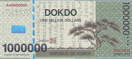 Specimen Île DOKDO Corée 1 000 000 Dollars 2013 UNC - Specimen