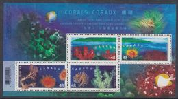 Canada BF N° 62 XX Faune : Coraux, Le Bloc Sans Charnière, TB - Blocks & Sheetlets