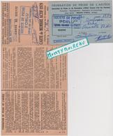 Vieux  Papier  : Carte De Pêche  Dans L ' Ariège , Canton D ' Ax Les Thermes , Timbre Taxe ( Yvelines Corneille) - Vieux Papiers