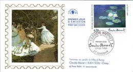 LETTRE GRAND FORMAT (1ER JOUR) - FDC - CLAUDE MONET - 29 MAI 1999 A GIVERNY - CÔTE : 7 EUROS - FDC