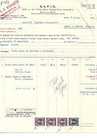 FAT208 - FATTURA 1953 - DITTA G.B. MENEGOTTO - S.A.P.I.O. MAROSTICA - MARCHE DA BOLLO - Italy