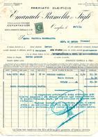 FAT210 - FATTURA 1933 - EMANUELE BAMELLA & FIGLI - ONEGLIA - MARCHE DA BOLLO - Italy