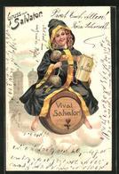 Lithographie Vivat Salvator!, Münchner Kindl - Cartoline