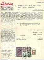 FAT211 - FATTURA 1937 - BIZERBA - AGENZIA DI TRENTO - MARCHE DA BOLLO - Italia