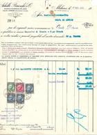 FAT212 - FATTURA 1940 - ACHILLE BRIOSCHI & C.- DEPOSITO DI TRENTO - MARCHE DA BOLLO - Italy