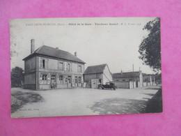 CPA 27 SAINT GEORGES MOTEL HOTEL DE LA GARE TORCHEUX DANIEL VOITURE ANCIENNE - Saint-Georges-Motel