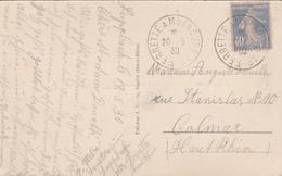 France Alsace Ambulant Ferrette à Mulhouse 1° Sur Carte Postale 1930 - Postmark Collection (Covers)