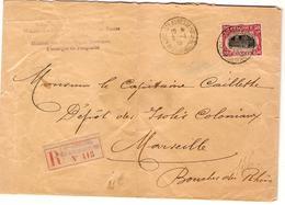 TP 144 S/L.recommandée Du Gouvernement Belge C.Ste Adresse 5/4/18 V.Marseille Dépôts Des Isolés Coloniaux 2281 - Guerre 14-18