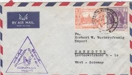 Birmanie Lettre Pour L'Allemagne 1957 - Birmanie (...-1947)
