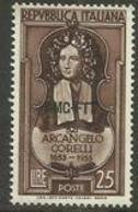 Trieste Zone A - 1953 Arcangelo Corelli   25L MNH **  SG 254 Sc 168 - 7. Trieste