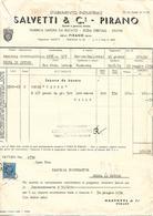 FAT214 - FATTURA 1934 - SALVETTI & C. - PIRANO (ISTRIA) - MARCHE DA BOLLO - Italy