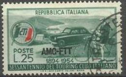 Trieste Zone A - 1954 Italian Touring Club 25L Used  SG 297 Sc 206 - 7. Trieste