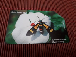 Phonecard Sierra Leone Buterfly Used Rare - Sierra Leone
