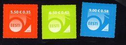 614138788 ESTLAND ESTONIA 2008 ** MNH  SCOTT 583 584 585 POST HORN - Estonie