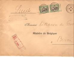 TP 143(2) S/L.recommandée Gouvernement Belge C.Ste Adresse 27/10/1918 V.Baron De Groote Ministre Belge Suisse 2282 - Guerre 14-18