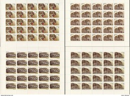 Kyrgyzstan 1994 WWF Snow Leopard 4 Minisheets MNH - Unused Stamps