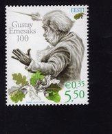 614139232 ESTLAND ESTONIA 2008 ** MNH  SCOTT 586 GUSTAVE ERNESAKS - Estonie
