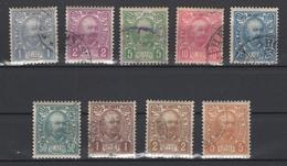 Monténégro. 1902: N° 49/57  Oblitérés. Cote Y&T 2012: 8 € - Montenegro