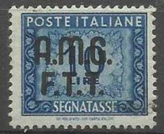 Trieste Zone A - 1949 Postage Due Numerals  10L Used (2-line Overprint)   SG D55 Sc J13 - 7. Trieste