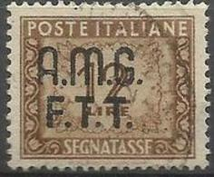 Trieste Zone A - 1949 Postage Due Numerals  12L Used (2-line Overprint)   SG D56 Sc J14 - Portomarken