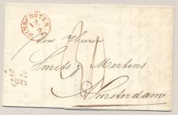 Nederland - 1849 - Complete Vouwbrief Met Rondstempel WINSCHOTEN Naar Amsterdam - Nederland